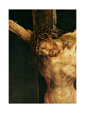 Christ on the Cross, Detail from the Central Crucifixion Panel of the Isenheim Altarpiece,… Giclée-tryk af Matthias Grünewald