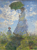 Woman with a Parasol - Madame Monet and Her Son, 1875 Giclee-trykk av Claude Monet