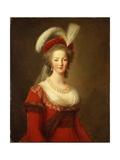 Portrait of Marie Antoinette, Queen of France Reproduction procédé giclée par Elisabeth Louise Vigee-LeBrun