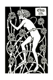 Hermaphrodite Amongst the Roses from Le Morte D'Arthur by Sir Thomas Malory, 1894 Lámina giclée por Aubrey Beardsley