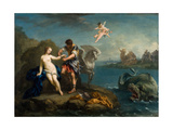 Perseus Freeing Andromeda, Late 1730s Giclée-tryk af Jacopo Amigoni