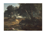 Forest of Fontainebleau, 1834 Reproduction procédé giclée par Jean-Baptiste-Camille Corot