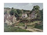 The Hermitage at Pontoise, C.1867 Reproduction procédé giclée par Camille Pissarro