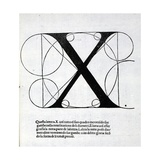 X, Illustration from 'Divina Proportione' by Luca Pacioli (C.1445-1517), Originally Pub. Venice,… Giclee-trykk av  Leonardo da Vinci