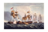 Capture of La Minerve, Print Made by Thomas Sutherland, from 'The Naval Achievements of Great… Giclee Print by Thomas Whitcombe