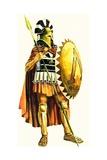 A Spartan Hoplite, or Heavy Armed Soldier Giclée-tryk af Andrew Howat