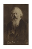 Johannes Brahms, German Composer and Pianist (1833-1897) Giclee Print by German School