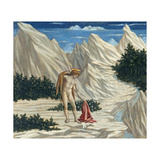 St. John in the Desert, C.1445-50 Giclée-Druck von Domenico Veneziano
