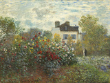 The Artist's Garden in Argenteuil (A Corner of the Garden with Dahlias), 1873 Giclee Print by Claude Monet