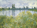 Banks of the Seine, Vetheuil, 1880 Giclee Print by Claude Monet