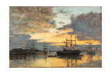 Bordeaux, in the Harbor, 1880 Giclee Print by Eugène Boudin
