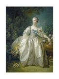 Madame Bergeret, C. 1766 Reproduction procédé giclée par Francois Boucher