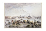 A View of Stockholm from Kungsholmen with the Royal Palace and Storkyrkan, Tyskakyrkan,… Giclee Print by Elias Martin