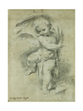 An Angel Giclée-tryk af Vittorio Maria Bigari
