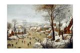 The Birdtrap Giclée-tryk af Pieter Brueghel the Younger