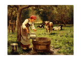 Tending the Cows Giclee Print by Julien Dupre