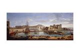 The Darsena, Naples, C.1702 Giclée-Druck von Gaspar van Wittel