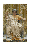 A Revery- a Look of Sadness on a Restful Face - She Hath No Cares - a Thing Hereditary in the… Giclee Print by Albert Joseph Moore