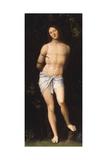 Saint Sebastian Giclée-tryk af Giovanni Francesco Caroto
