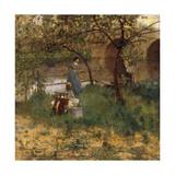 On the Loing, 1884 Gicléetryck av Sir John Lavery