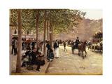 A Paris Street; Une Avenue Parisienne, C.1880 Giclee Print by Jean Béraud