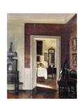 An Interior with a Cello Gicléetryck av Carl Holsoe