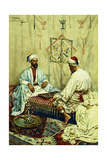 Arabs Playing Backgammon in an Interior Giclee Print by Giulio Rosati