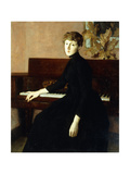 Lady at the Piano Giclee Print by Julian Alden Weir