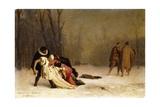 The Duel after the Ball; Sortie Du Bal Masque Giclée-tryk af Jean Leon Gerome