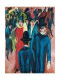 Berlin Street Scene, 1913-14 Giclee Print by Ernst Ludwig Kirchner