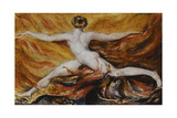 Oh! Flames of Furious Desires: Plate 3 of Urizen, 1796 Reproduction procédé giclée par William Blake