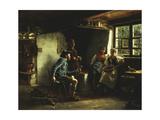 The Courtship, 1880 Giclee Print by Emil Karl Rau