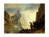 A Lake in the Sierra Nevada, 1867 Gicléedruk van Albert Bierstadt