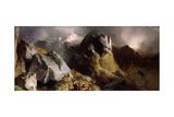 The Deer Pass, C.1852 Giclée-tryk af Edwin Henry Landseer