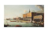 The Bacino Di San Marco, Venice, Looking West, C.1740s Giclée-tryk af Antonio Joli