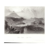 Pontoon Bridge on Lough Conn Reproduction procédé giclée par William Henry Bartlett