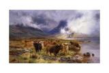 Through Glencoe by Way to the Tay, 1899 Gicléedruk van Louis Bosworth Hurt