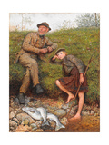 Fisherman and Boy, 1866 Gicléetryck av Frederick Walker