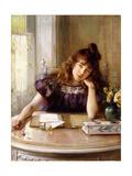 The Letter Giclée-tryk af Albert Lynch