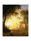 Light in the Forest Giclee Print by Albert Bierstadt