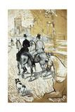 Horse-Riders Going Toward the Bois De Boulogne; Cavaliers Se Rendant Au Bois De Bologne, 1888 Lámina giclée por Henri de Toulouse-Lautrec