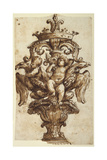 Design for a Finial of a Coach Giclée-tryk af Alessandro Algardi