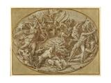 The Hunt of the Calydonian Boar Giclée-Druck von Perino Del Vaga