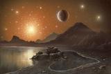 Globular Cluster, Artwork Fotografie-Druck von Richard Bizley