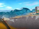 Underwater Earthquake And Tsunami Fotografie-Druck von Jose Antonio