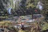 Cretaceous Life, Artwork Fotografie-Druck von Richard Bizley