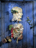 Organic Food, Conceptual Image Fotografie-Druck von Biddle Biddle