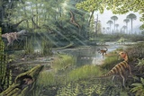 Jurassic Life, Artwork Fotografie-Druck von Richard Bizley