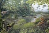 Jurassic Life, Artwork Premium Photographic Print by Richard Bizley