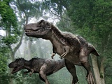 Tyrannosaurus Rex Dinosaurs Lámina fotográfica por Jose Antonio